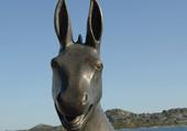 Puzzle statue de l'âne en bronze