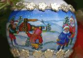 Puzzle des enfants pendant les vacances de Noël