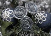 Puzzle de Noël : les décorations argentées