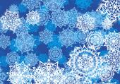 Puzzle de noël: decors de flocons de neige