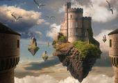 Puzzle chateau flottant