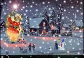 Jeu puzzle Bonhomme de neige...