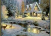 Puzzle Beau paysage d'hiver