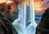 Puzzle Puzzle gratuit la cascade merveilleuse