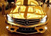 Puzzle voiture en or