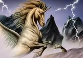 un  cheval  sou l orage