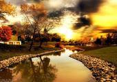 Puzzle Puzzle paysage au coucher du soleil