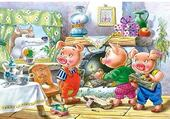 Puzzle en ligne les trois petits cochons