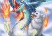 Puzzle dragon et loup