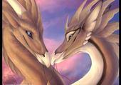 Jeu puzzle Dragon Amoureux