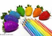 Puzzle gratuit fraises de couleurs