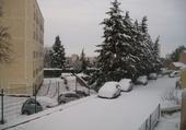Taquin nîmes sous la neige