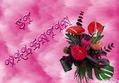Puzzle bouquet st valentin
