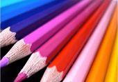 Jeux de puzzle : crayons de couleur