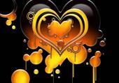 Taquin coeur jaune