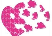 Puzzle coeur en puzzle
