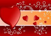 Puzzles coeur rouge orange