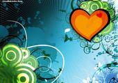 Puzzle coeur fond bleu