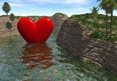 Puzzle coeur eau