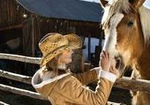 Puzzle cheval +dame