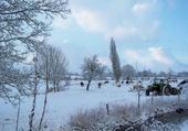 Puzzle la campagne sous la neige