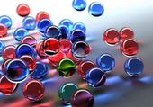 Puzzle en ligne billes multicolores
