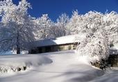 Jeu puzzle paysage neige