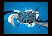 Taquin fleurs bleues