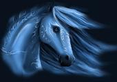 Puzzle gratuit dessin d'un cheval