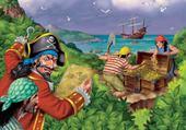 Jeu puzzle trésor de pirates