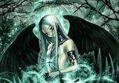 Puzzle Jeu puzzle ange noir