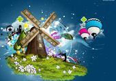 Puzzle moulin design