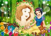 Jeux de puzzle : snow white