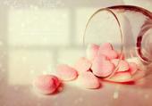 Jeu puzzle coeurs en sucre