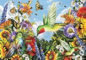 Puzzle colibris et papillons