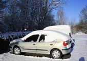 Jeux de puzzle : voiture sous neige