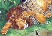 Puzzle gratuit Il leone e il topo