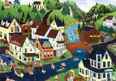 Puzzle village naif