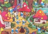Jeu puzzle Le village des schtroumpfs