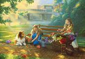 Jeu puzzle fleurs à vendre