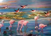 Puzzle Flamands roses