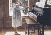 Jeu puzzle fillettes joue violon