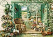 Puzzle jardin de fleurs