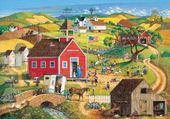 Puzzle en ligne village naif