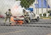 Puzzle Auto en feu