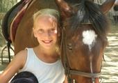 michele et un cheval