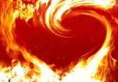 Puzzle coeur en feu