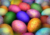 Puzzle oeufs multicolores