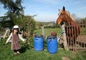 Puzzles nina et les chevaux