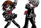 Puzzle Chibi: Zéro et Yuki.